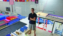MATT SCHICKLING / WIRE PHOTO Dan Galiczynski trains at The Gravity Forge, a gymnastics and ninja warrior training center in Hatboro. Galiczynski, 27, has competed on NBC's Ninja Warrior five times.