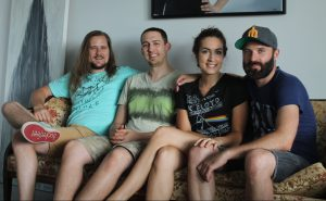 """JACK FIRNENO / WIRE PHOTO Jessica Taylor (second from left) is opening Mill Arts Collective, a """"space to make"""" where painters, photographers, graphic designers and other creative people can share resources, ideas and encouragement for their pursuits."""