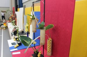 """MATT SCHICKLING / WIRE PHOTO The Trevose Horticultural Society's annual flower show will be held this weekend with the theme, """"Surf's Up."""" Above, an exhibit is shown from last year's event."""