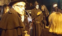 JACQUELINE RUPP / TIMES PHOTO The Historic Bristol Ghost tour haunts the borough's streets every Wednesday through Halloween.